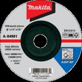 шліфувальний диск по металу 150x6 36P A-84981 (Makita, Япония)