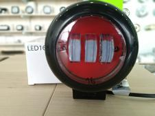 балка світлодіодна LED Work Light 30W Round, Red Color, Flood Beam ETK-WL-30W-RD-RED (CREE)