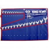 набір ключів ріжково-накидних 6-32 мм (в комплекті по 26 шт.)  1226MRN (KING TONY, Тайвань)