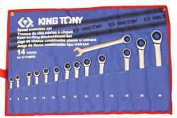 ключі комбіновані з трищіткою (в комплекті по 14 шт.)  12114MRN (KING TONY, Тайвань)
