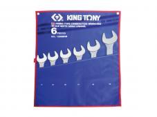 набір ключів ріжково-накидних 6 од. 6-32 мм 1296MRN (KING TONY, Тайвань)