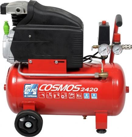 компресор поршневий прямопривідний FIAC COSMOS 255 50 літров 8 бар, продуктивність 10,3 м3/годину 1121160609 (KING TONY, Италия)